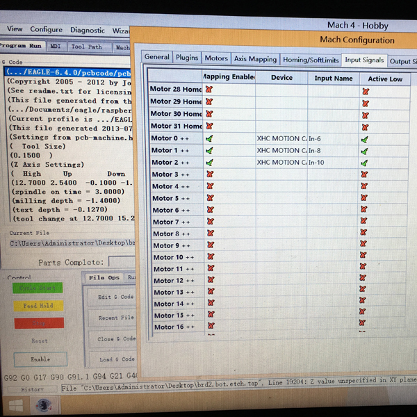 Mach4 cnc software setting