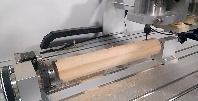 4 Axis CNC Router 6040 working