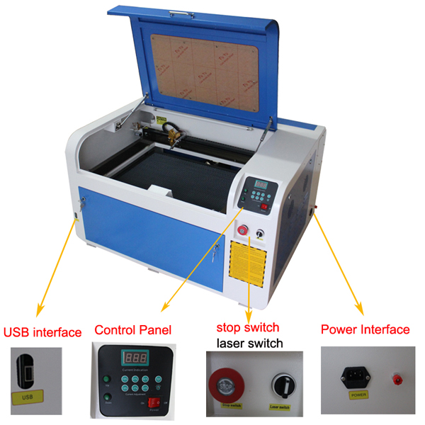 XB 4060 desktop laser engraving machine