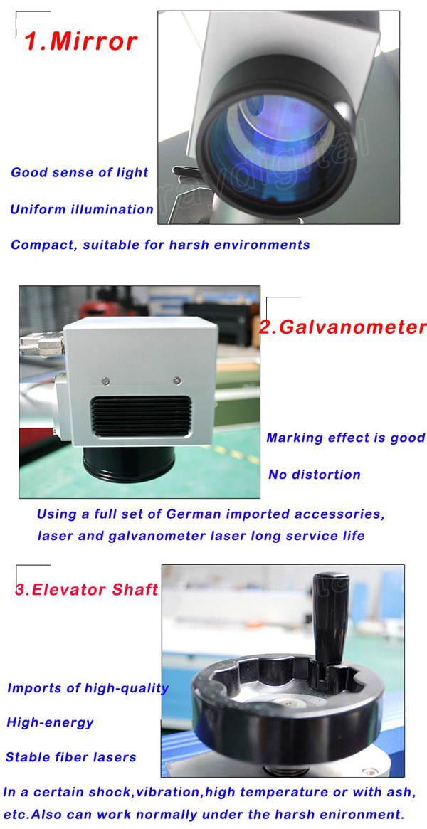 desktop fiber laser engraver marking machine