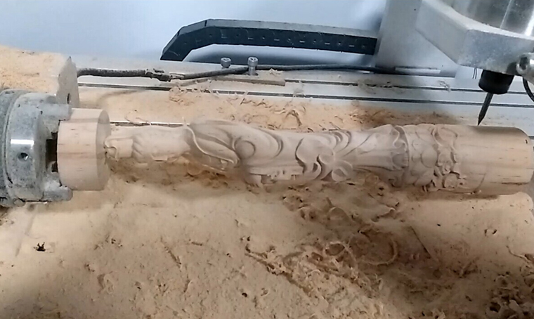 4 Axis CNC Router 6040 for round carving 2