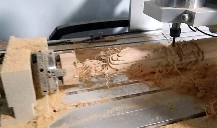 Mini 4 Axis CNC router 6040 for Rough Engraving