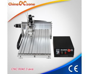 ChinaCNCzone CNC6040Z Mini Aluminum CNC Machine with 2200W Spindle with 3 Axis 4 Axis for Selection