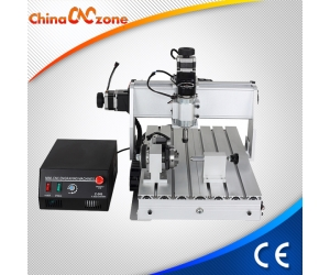 China CNC Router 3040 4 Axis with 500W DC Spindle and USB Controller.