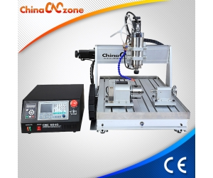 ChinaCNCzone 1500W/2200W CNC 6040 4 Axis Router with Sink Cool System and DSP, Mach3, USB CNC Controller for Selection Z Axis 105mm