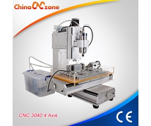 HY-3040 Mini Hobby CNC Router 4 Axis for Sale with Cross Slippery Platform