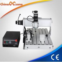 China China CNC Router 3040 4 Axis with 500W DC Spindle and USB Controller. factory