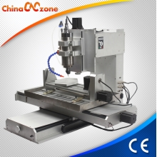 China China Desktop Small Mini 5 Axis CNC Router Machine HY 6040 New with 2.2KW and USB factory