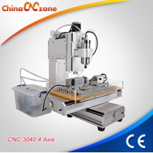 Fabbrica della Cina HY-3040 Mini Hobby CNC Router 4 Axis for Sale with Cross Slippery Platform