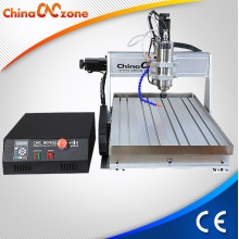 China Mach3 USB CNC 6040 3 as 4 as Mini CNC Router met 1500W/2200W klosje, zinken koeling systeem en Z-as tot 105mm hoog fabriek