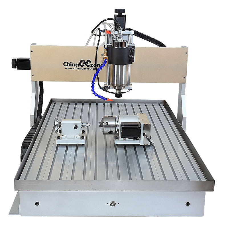 Chinacnczone New 6090 Cnc Router 4 Axis With Updated Water